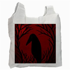 Halloween raven - red Recycle Bag (Two Side)