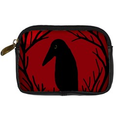 Halloween raven - red Digital Camera Cases