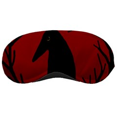 Halloween raven - red Sleeping Masks