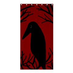 Halloween raven - red Shower Curtain 36  x 72  (Stall)
