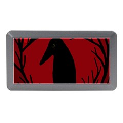 Halloween raven - red Memory Card Reader (Mini)