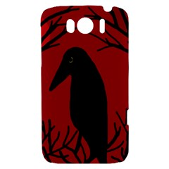 Halloween raven - red HTC Sensation XL Hardshell Case