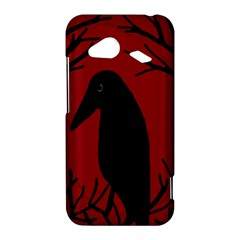 Halloween raven - red HTC Droid Incredible 4G LTE Hardshell Case