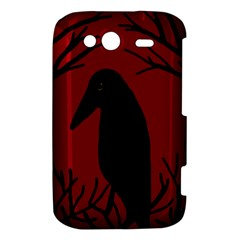Halloween raven - red HTC Wildfire S A510e Hardshell Case