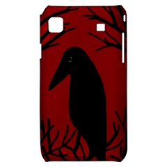Halloween raven - red Samsung Galaxy S i9000 Hardshell Case