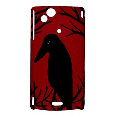 Halloween raven - red Sony Xperia Arc