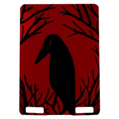 Halloween raven - red Kindle Touch 3G