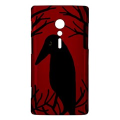 Halloween raven - red Sony Xperia ion