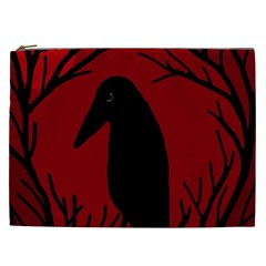 Halloween raven - red Cosmetic Bag (XXL)