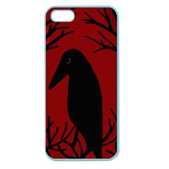 Halloween raven - red Apple Seamless iPhone 5 Case (Color)