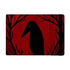 Halloween raven - red Apple iPad Mini Flip Case