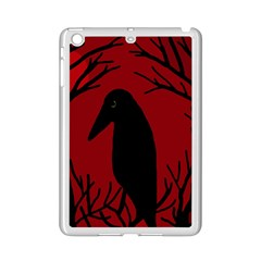 Halloween raven - red iPad Mini 2 Enamel Coated Cases