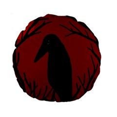 Halloween raven - red Standard 15  Premium Round Cushions