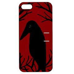 Halloween raven - red Apple iPhone 5 Hardshell Case with Stand
