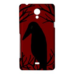 Halloween raven - red Sony Xperia T