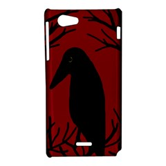 Halloween raven - red Sony Xperia J