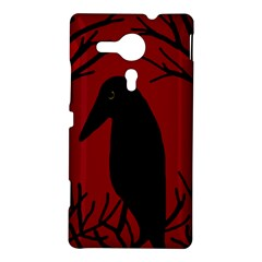 Halloween raven - red Sony Xperia SP
