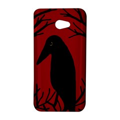 Halloween raven - red HTC Butterfly S/HTC 9060 Hardshell Case