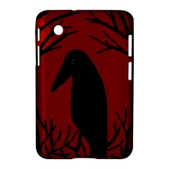 Halloween raven - red Samsung Galaxy Tab 2 (7 ) P3100 Hardshell Case