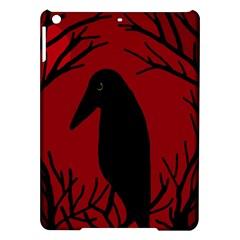 Halloween raven - red iPad Air Hardshell Cases