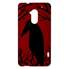 Halloween raven - red HTC One Max (T6) Hardshell Case