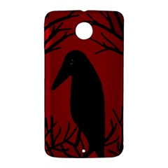 Halloween raven - red Nexus 6 Case (White)