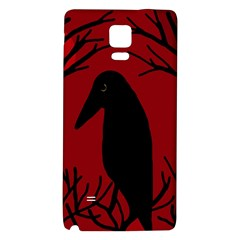 Halloween raven - red Galaxy Note 4 Back Case