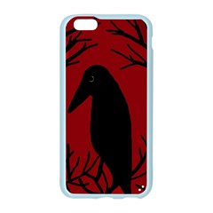 Halloween raven - red Apple Seamless iPhone 6/6S Case (Color)