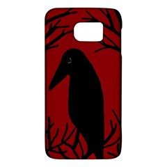 Halloween raven - red Galaxy S6