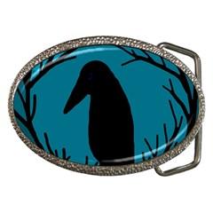 Halloween raven - Blue Belt Buckles