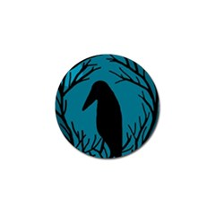 Halloween raven - Blue Golf Ball Marker (4 pack)