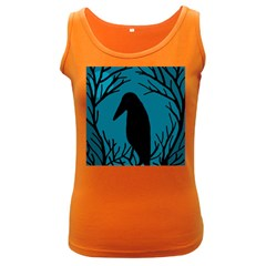 Halloween raven - Blue Women s Dark Tank Top
