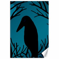 Halloween raven - Blue Canvas 20  x 30