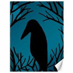 Halloween raven - Blue Canvas 36  x 48
