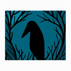 Halloween raven - Blue Small Glasses Cloth (2-Side)
