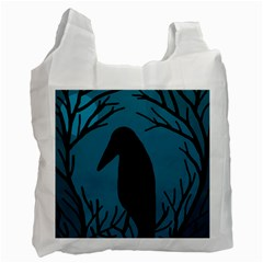 Halloween raven - Blue Recycle Bag (Two Side)