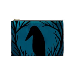 Halloween raven - Blue Cosmetic Bag (Medium)