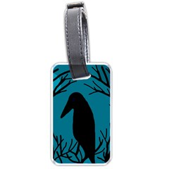 Halloween raven - Blue Luggage Tags (One Side)