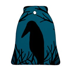 Halloween raven - Blue Bell Ornament (2 Sides)