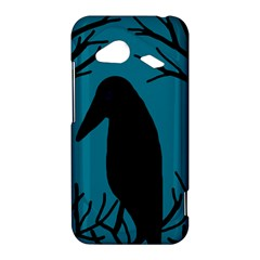 Halloween raven - Blue HTC Droid Incredible 4G LTE Hardshell Case