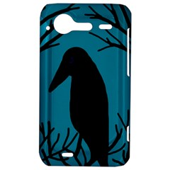 Halloween raven - Blue HTC Incredible S Hardshell Case