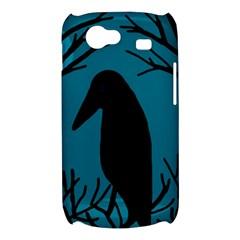 Halloween raven - Blue Samsung Galaxy Nexus S i9020 Hardshell Case