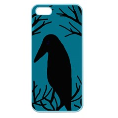 Halloween raven - Blue Apple Seamless iPhone 5 Case (Color)