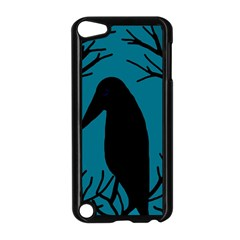 Halloween raven - Blue Apple iPod Touch 5 Case (Black)