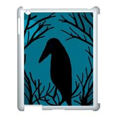 Halloween raven - Blue Apple iPad 3/4 Case (White)