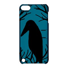 Halloween raven - Blue Apple iPod Touch 5 Hardshell Case with Stand