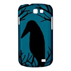 Halloween raven - Blue Samsung Galaxy Express I8730 Hardshell Case