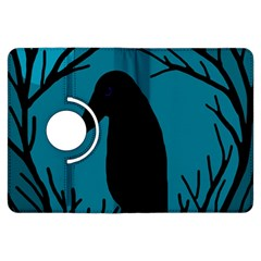 Halloween raven - Blue Kindle Fire HDX Flip 360 Case