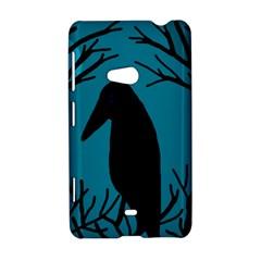 Halloween raven - Blue Nokia Lumia 625