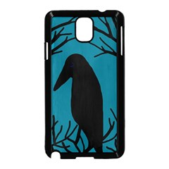 Halloween raven - Blue Samsung Galaxy Note 3 Neo Hardshell Case (Black)
